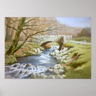 Robbers Bridge, Exmoor Poster