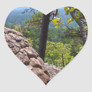 Robber's Cave State Park Heart Sticker