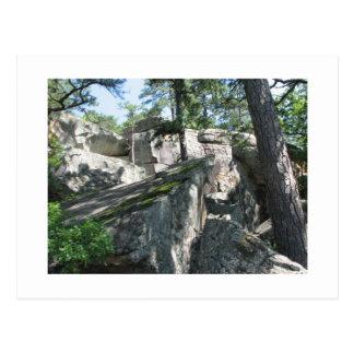 Robbers Caves Oklahoma Postcard