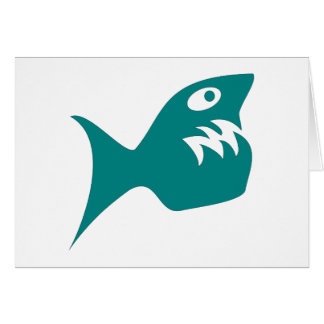 Robbery fish predator fish greeting cards