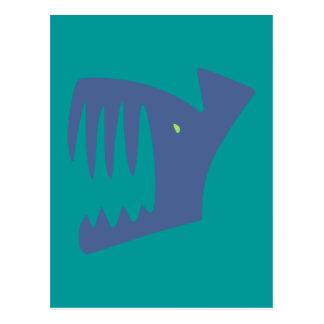 Robbery fish predator fish postcard