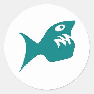 Robbery fish predator fish sticker