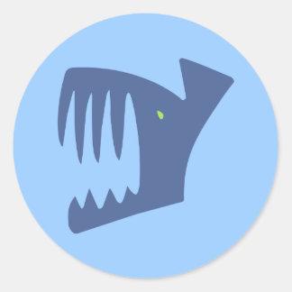 Robbery fish predator fish round sticker