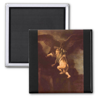 Robbery of Ganymede by Rembrandt Refrigerator Magnets
