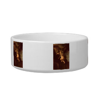 Robbery of Ganymede by Rembrandt Cat Food Bowls