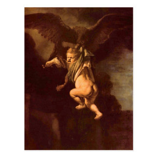 Robbery of Ganymede by Rembrandt Postcard