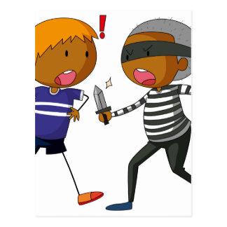 Robbery Postcard