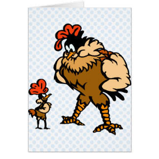 Robbey Rooster Greeting Card