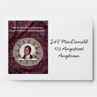 Robbie Burns Highland envelope