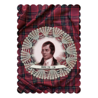 Robbie Burns Highland invitation