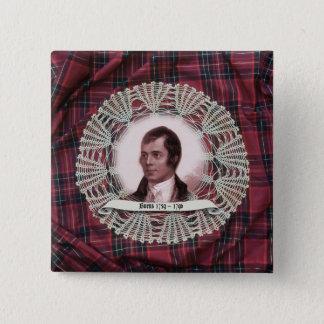 Robbie Burns Highland square pin