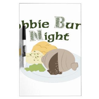 Robbie Burns Night Dry-Erase Board