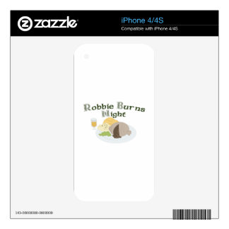 Robbie Burns Night Skins For iPhone 4S