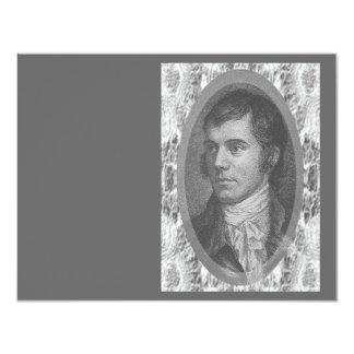 Robbie Burns Portrait (Grey) Card