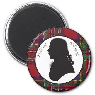 Robbie Burns silhouette magnet