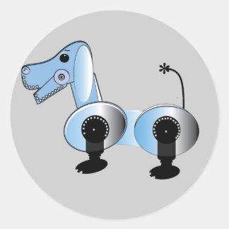 Robbie Steampunk Dog Stickers