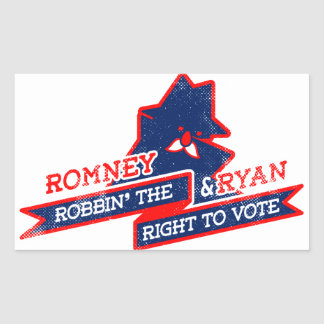 Robbin' The Right To Vote Rectangular Sticker