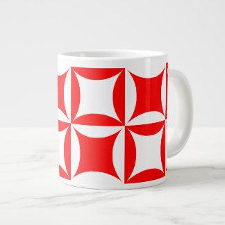 Robbing Peter to Pay Paul Red Pattern Large Coffee Mug