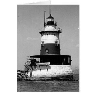 Robbins Reef Lighthouse Greeting Card