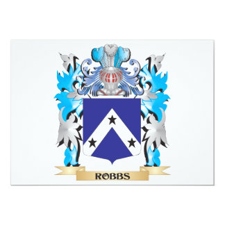 """Robbs Coat of Arms - Family Crest 5"""" X 7"""" Invitation Card"""