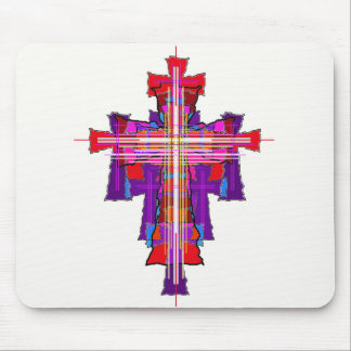 Robed Graphic Crucifix. Mouse Pad