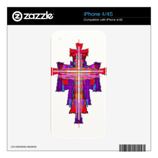 Robed Graphic Crucifix. Skins For iPhone 4