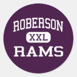 Roberson - espolones - alto - Asheville Carolina Pegatinas Redondas