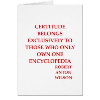 robert anton wilson quote greeting cards