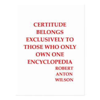 robert anton wilson quote postcard