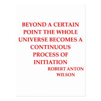 robert anton wilson quote postcards