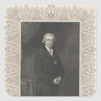 Robert Banks Jenkinson, 2nd Earl of Liverpool Square Sticker