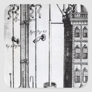 Robert Boyle's development of the water pump Square Sticker