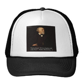 Robert Browning Famous Motherhood Quote Hats