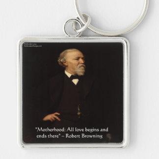 Robert Browning Famous Motherhood Quote Keychain