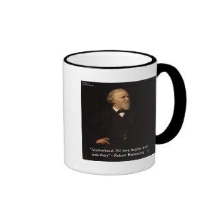 Robert Browning Famous Motherhood Quote Ringer Coffee Mug