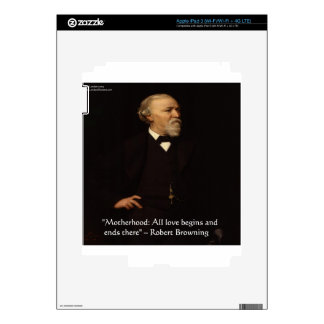 Robert Browning Famous Motherhood Quote Decals For iPad 3