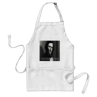 Robert Browning God Perfect Poet Quote Adult Apron
