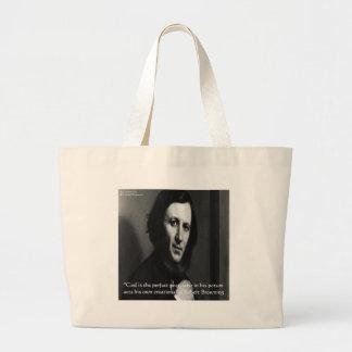 Robert Browning God Perfect Poet Quote Jumbo Tote Bag