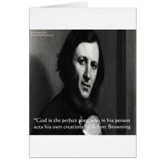 Robert Browning God Perfect Poet Quote Cards