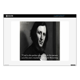 Robert Browning God Perfect Poet Quote Decals For Laptops