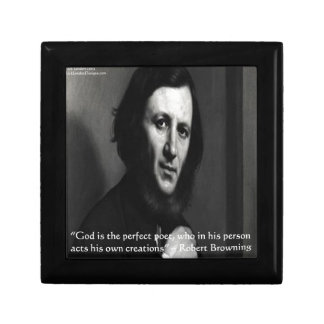 Robert Browning God Perfect Poet Quote Gift Box