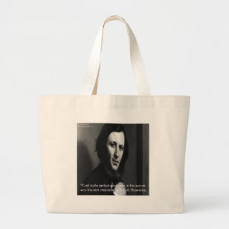 Robert Browning God Perfect Poet Quote Large Tote Bag