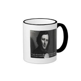 Robert Browning God Perfect Poet Quote Ringer Coffee Mug