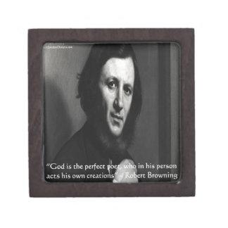 Robert Browning God Perfect Poet Quote Premium Trinket Boxes