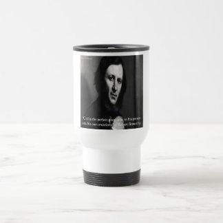 Robert Browning God Perfect Poet Quote Travel Mug