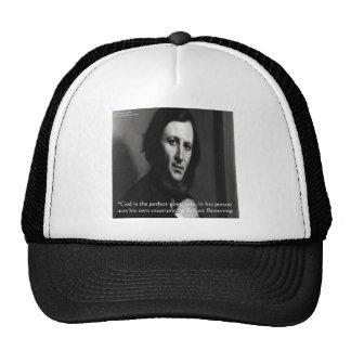 Robert Browning God Perfect Poet Quote Trucker Hat