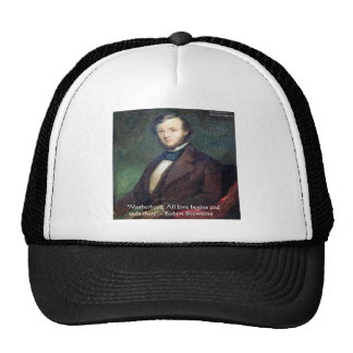 Robert Browning Motherhood Quote Mesh Hat
