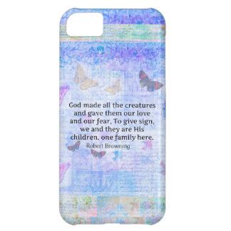 Robert Browning quote about animal compassion iPhone 5C Case