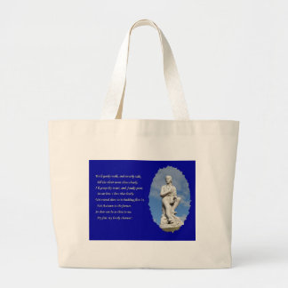 Robert Burns (1759–1796) Poems and Song Large Tote Bag
