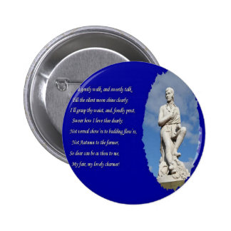 Robert Burns (1759–1796) Poems and Song Pinback Button